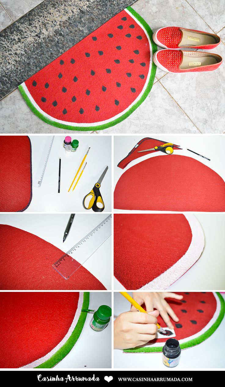 DIY: Tapete Fruta - Melancia - Casinha Arrumada