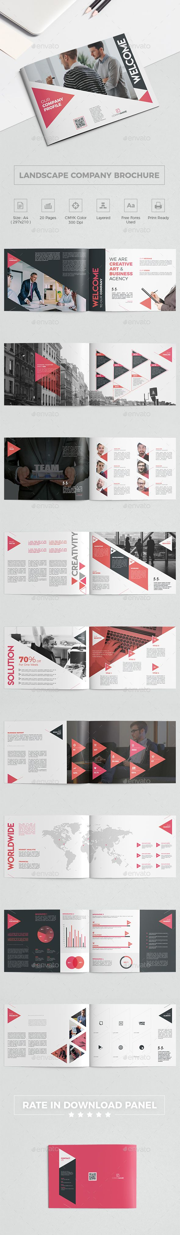 Landscape Company Brochure   #abstract, #agency, #brochure template, #business, #company, #company profile, #creative, #diagonal, #financial, #gradient, #infographic, #landscape, #landscape brochure, #landscape company brochure, #line, #map, #market, #marketing, #modern, #professional, #red, #report, #service, #solution, #statistics, #team, #template, #timeline, #unique, #welcome