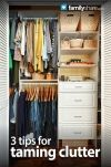 Too much stuff? How to can the clutter from FamilyShare.com @I ♥ My Family (FamilyShare.com) #clutter #springcleaning #organized