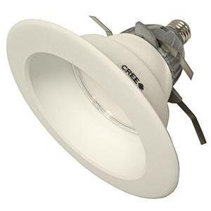 "Cree CR6 LED DOWNLIGHT FIXTURE Replacement LED Light Bulb by Cree. $44.99. 9.5 watt 120 volt CR6 Medium Screw (E26) Base 2,700K White LED 6"" Recessed Downlight Cree Light Bulb"