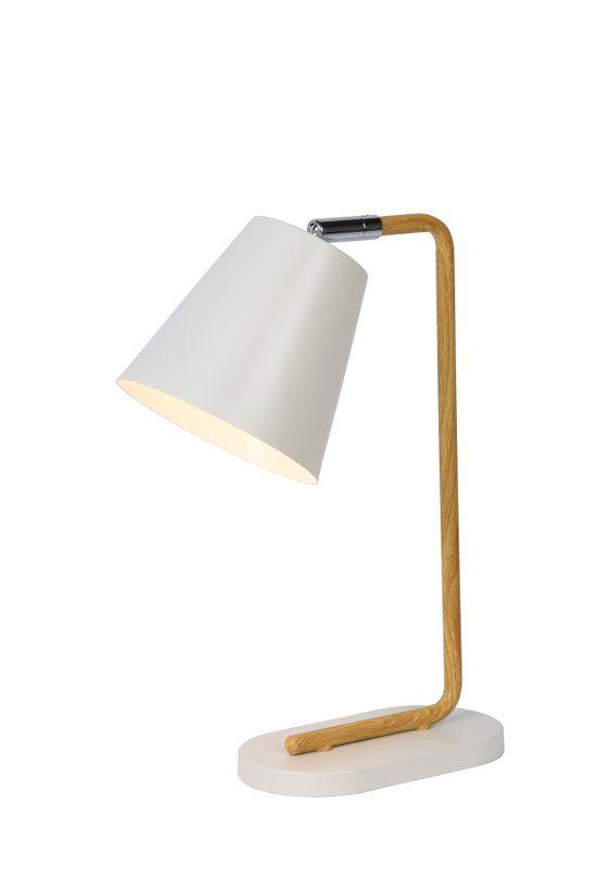 bol.com | Lucide Cona Tafellamp - Scandinavisch design - Houtfineer/metaal…
