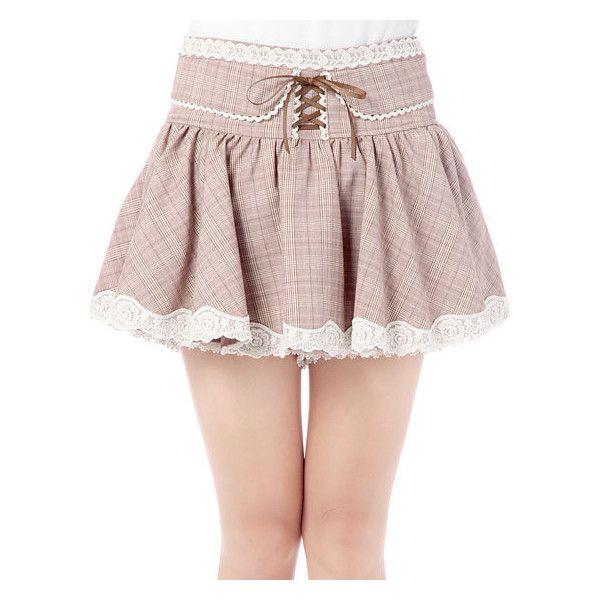 LIZ LISA:【LIZ LISA】グレンチェックスカパン ❤ liked on Polyvore featuring skirts