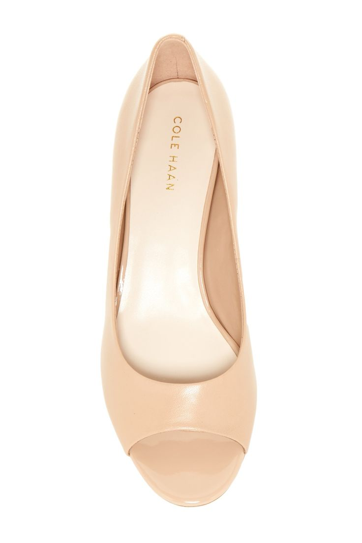 Cole Haan - Elsie Open Toe Wedge Pump - Wide Width Available is now 40% off. Free Shipping on orders over $100.