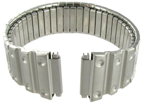 #watchband 18-22mm Hirsch Twist-o-flex Silver Tone Stainless Steel Watch Band Fits Casio G Shock Check https://www.carrywatches.com