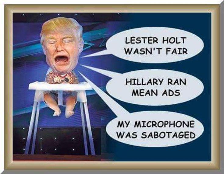 Funniest Presidential Debate Memes: Crybaby Trump