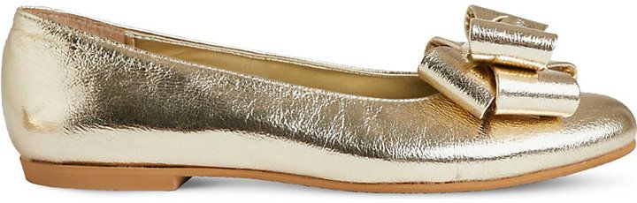 STEP2WO Jackie leather ballet flats 7-11 years
