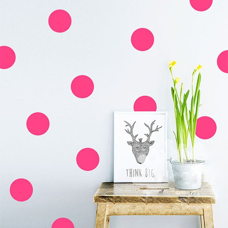 Polka Dots Wall Sticker //Price: $4.49 & FREE Shipping //     #wallsticker