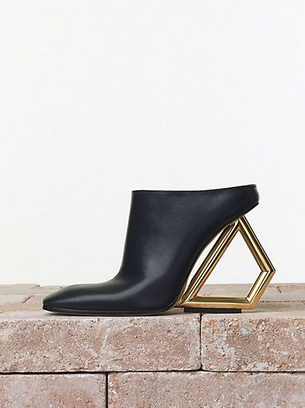 celine triangle heel mule - someone buy me these though