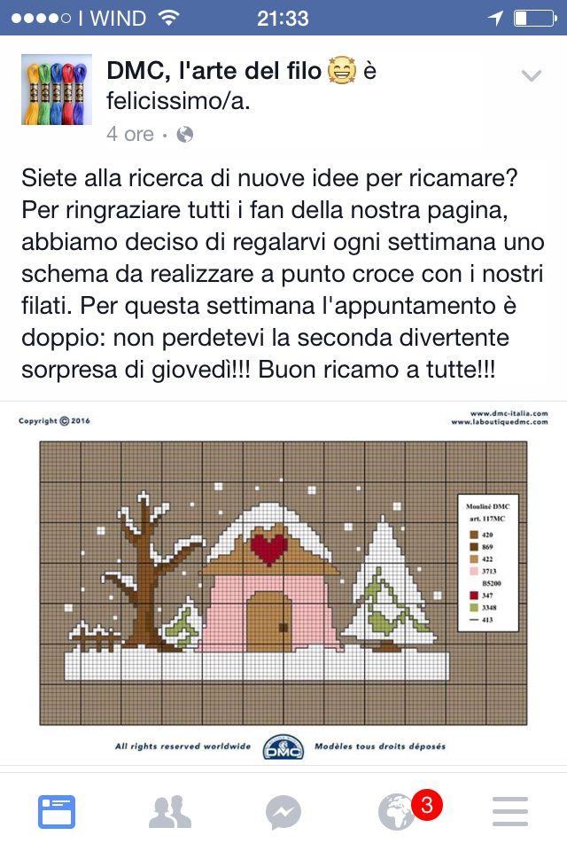 Casetta neve dmc arte del filo