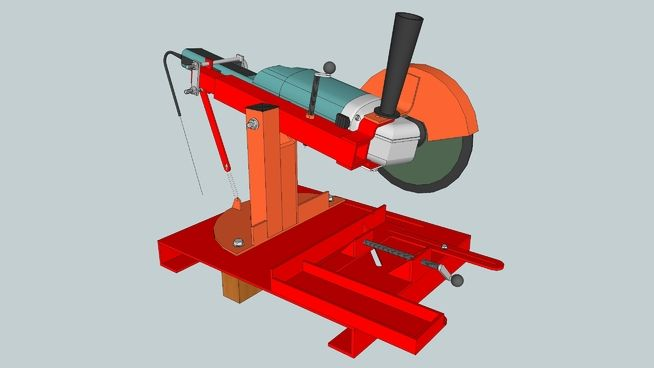 "Large preview of 3D Model of Soporte Artesanal Amoladora 7 1/2"""