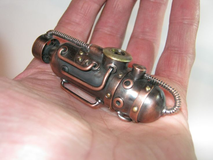 Steampunk usb flash drive  Copper Submarine (#149) by WERT64 on Etsy