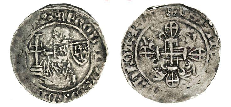 NumisBids: Numismatica Varesi s.a.s. Auction 67, Lot 488 : RODI ROBERT DI JUILLY (1374-1376) Gigliato. D/ Il Gran Maestro...