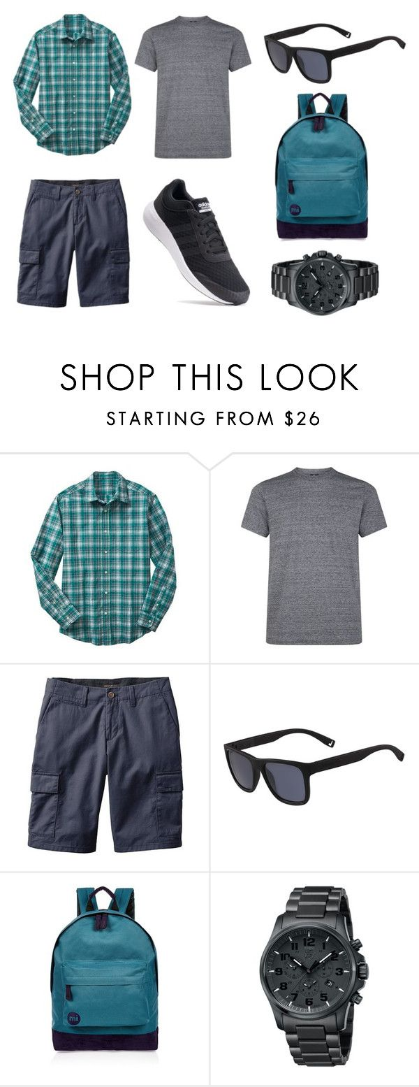 """Blue's Clues"" by ferranong on Polyvore featuring Gap, PS Paul Smith, Banana Republic, Lacoste, River Island, Luminox, adidas, men's fashion and menswear"