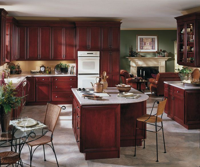 175 best homecrest custom cabinets images on pinterest for Burgundy kitchen cabinets pictures
