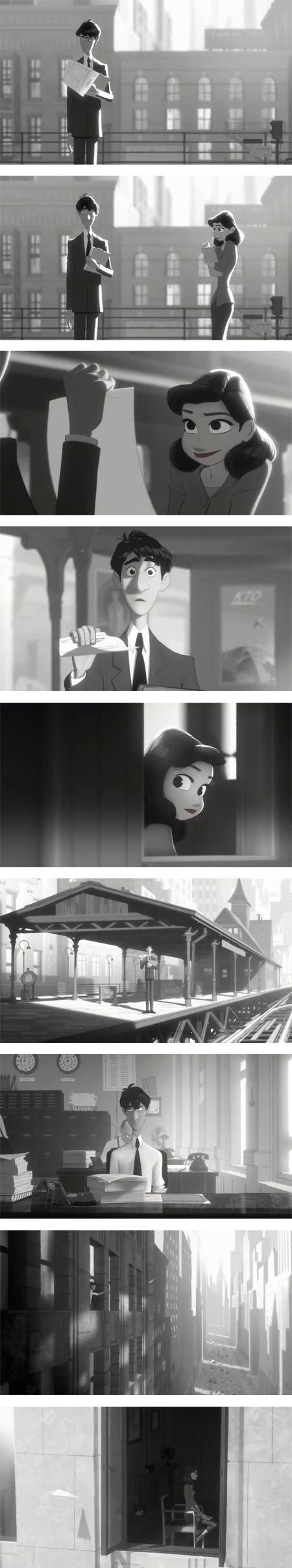 Probably the best animated short I've seen in years. Seeing a storyboard for this would really be interesting.