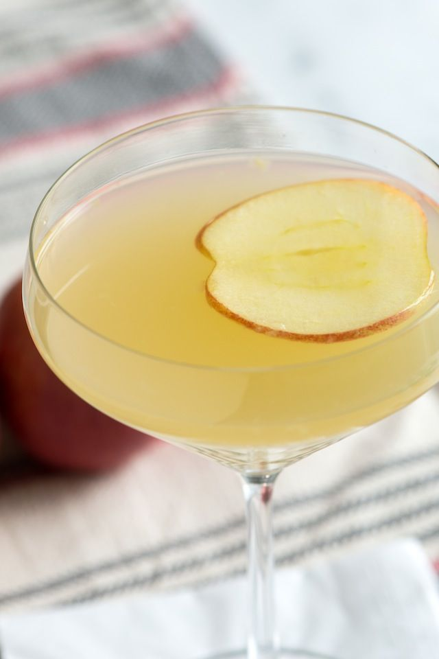 Ginger Apple Martini  perfect for Falls cooler weather – the ginger really warms things up ~