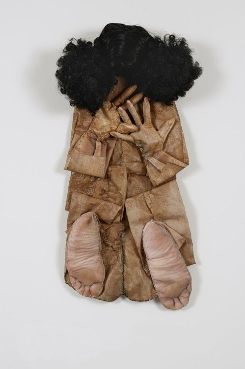 """Elia Alba (b. 1962) : """"I literally photographed my body and enlarged or shrunk some of those images. Applied to fabric, the images were further manipulated to create a three-dimensional collage."""" (Elia Alba)"""
