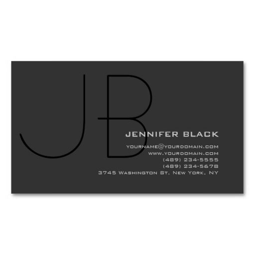 1000 best business card images on pinterest business cards monogram grey black consultant business card this is a fully customizable business card and available reheart Image collections