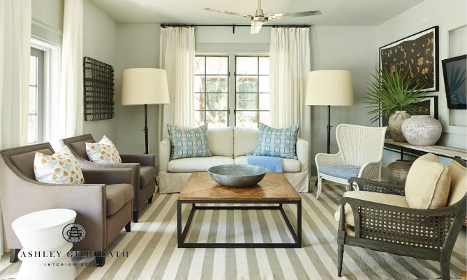 Living Room In Rosemary Beach Florida Flat By Ashley Gilbreath Interior Design Instagram Ashleygilbreathinter Interior Interior Design Coastal Living Rooms