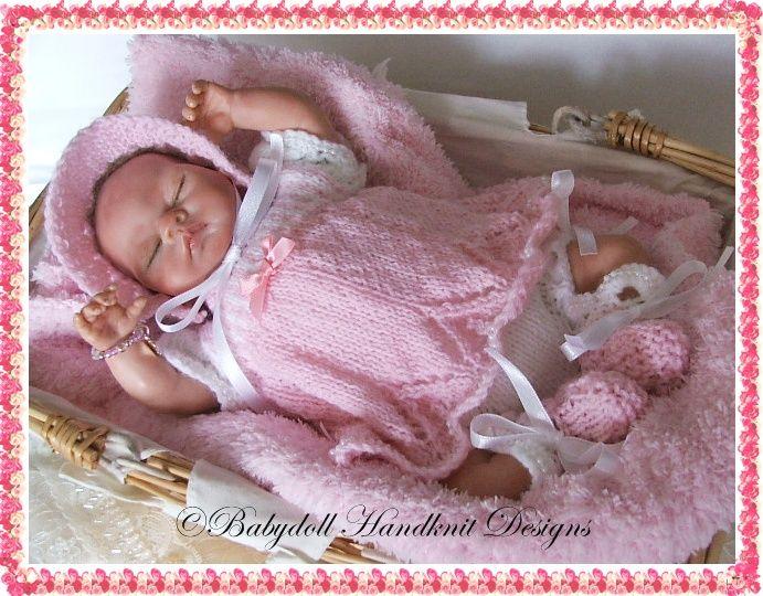 Free Knitting Patterns For Reborn Dolls : Candystripe dress set for 8-13