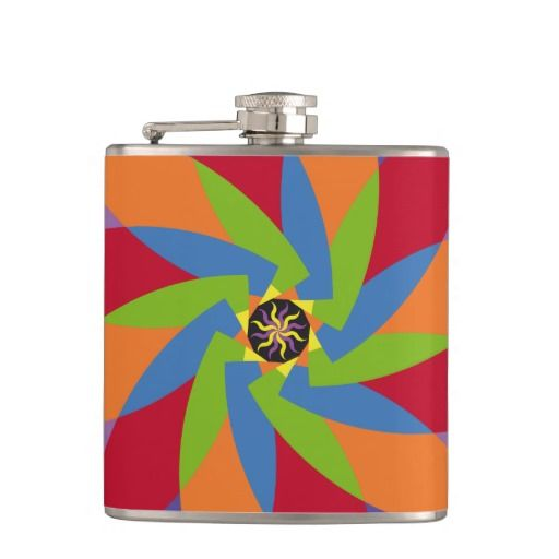 Coloridas formas patrón abstracto flores. Producto disponible en tienda Zazzle. Product available in Zazzle store. Regalos, Gifts. Link to product: http://www.zazzle.com/coloridas_formas_patron_abstracto_flores_hip_flask-256236995863914928?CMPN=shareicon&lang=en&social=true&rf=238167879144476949 #bottle #botella #petaca #flores #flowers