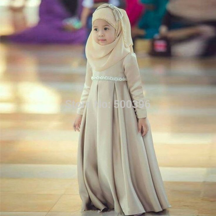 Find More Flower Girl Dresses Information about Muslim Flower Girl Dresses with Hijab 2016 Long Sleeves Lovely Girl's Formal Dress for Party Arab Baby Flower Girl Dress,High Quality dresses skirts kids dresses skirts,China dress rock Suppliers, Cheap dress lipstick from Su Zhou Wedding &Events Co,LTD on Aliexpress.com