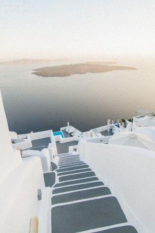 Chromata Hotel | View of Caldera with Nea Kameni volcano from Imerovigli