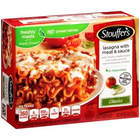 Stouffer's Classics Lasagna with Meat & Sauce, ...