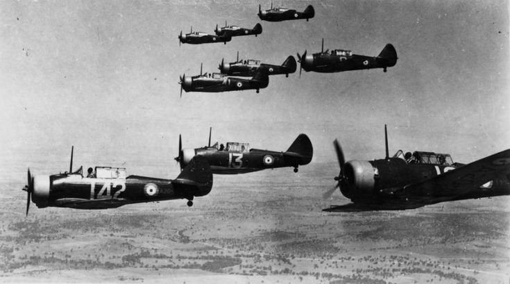 RAAF CAC Wirraway formation circa 1944 (Photo Source: State Library of Queensland) The Wirraway was never intended to primarily be a combat aircraft but it was armed and in the early fighting in New Guinea in 1942, Australia had few fighters and bombers to combat the Japanese (most experienced crew were flying RAF provided combat aircraft in Europe and North Africa at that stage of the war), so the Wirraway and its crews had to bravely step into the void.