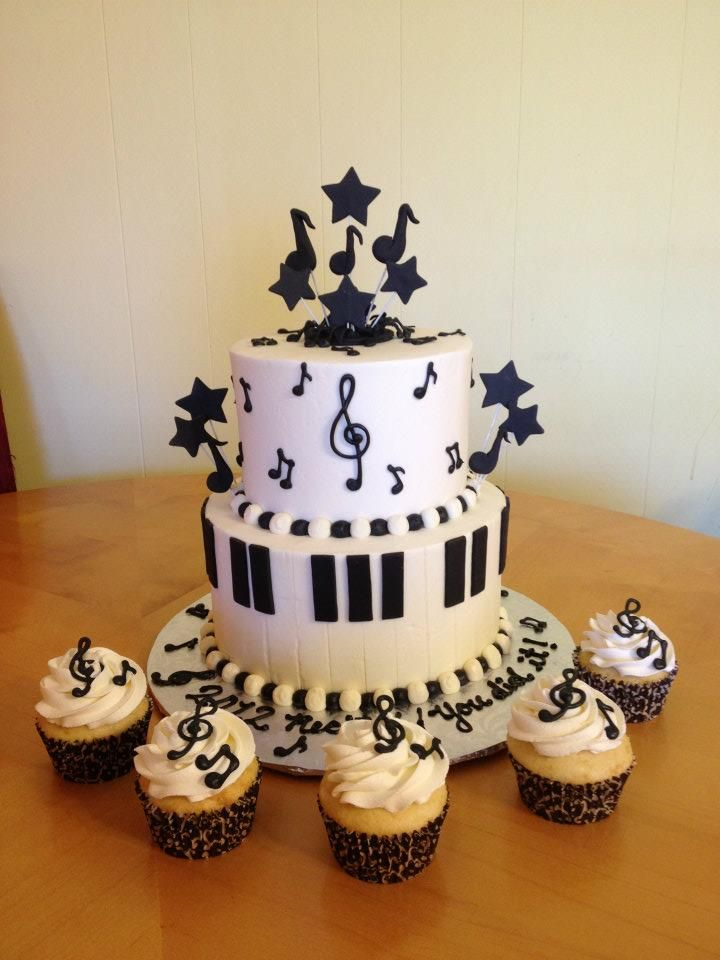 music themed cake | Main Made Custom Cakes