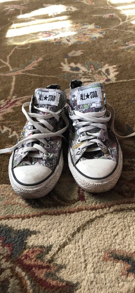 6ebd80d5a571 CONVERSE ALL STAR COMICS-COMIC BOOK-FUNNIES SNEAKERS-MENS 7 WOMENS 9   fashion  clothing  shoes  accessories  mensshoes  boots (ebay link)