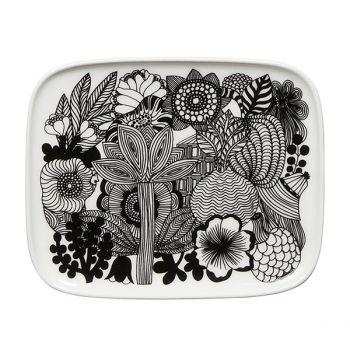Marimekko's Oiva - Siirtolapuutarha plate 15 x 12 cm