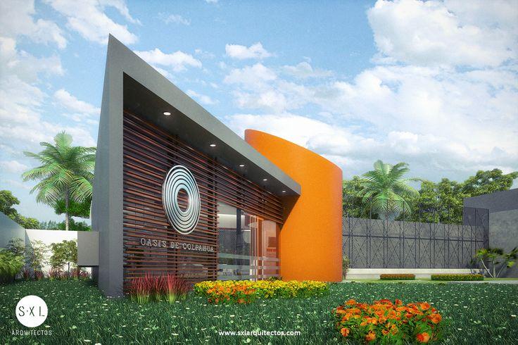 Diseño de sala de ventas en Piura para proyecto inmobiliario de gran escala. Diseño: S-XL Arquitectos, Lima-Perú. / Caseta para venta de departamentos.