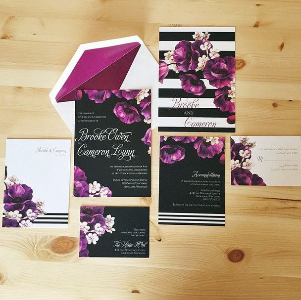 perfect poppies wedding invitations suite by davids bridal - Davids Bridal Wedding Invitations
