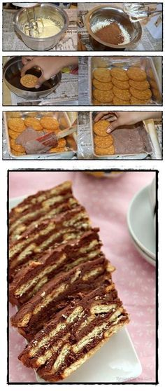 Receta tradicional de Tarta de galletas con chocolate para cumpleaños - Tarta de galletas maria - Tarta de galletas y chocolate - Tartas de galletas y flan