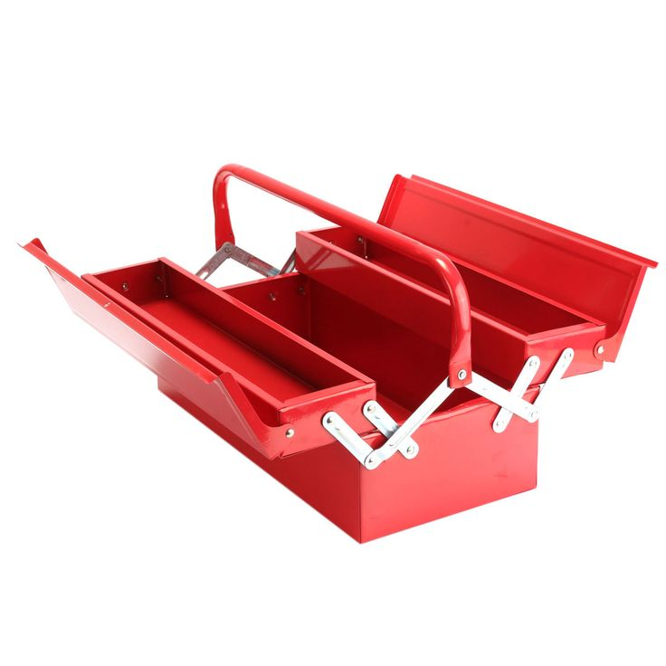 Heavy Duty Metal 2 Tier 3 Tray Cantilever Tool Box Storage Container Organizer