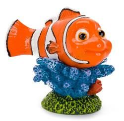 Nemo Mini Aquarium Ornament Penn Plax 2in one of the Finding Nemo Fish Tank Ornaments collection and it is adds a fun element to your underwater world. Now you can have Nemo, Marlin, Dory, and all your favourite characters from Disney Pixar's Finding Nemo, in your home aquarium.