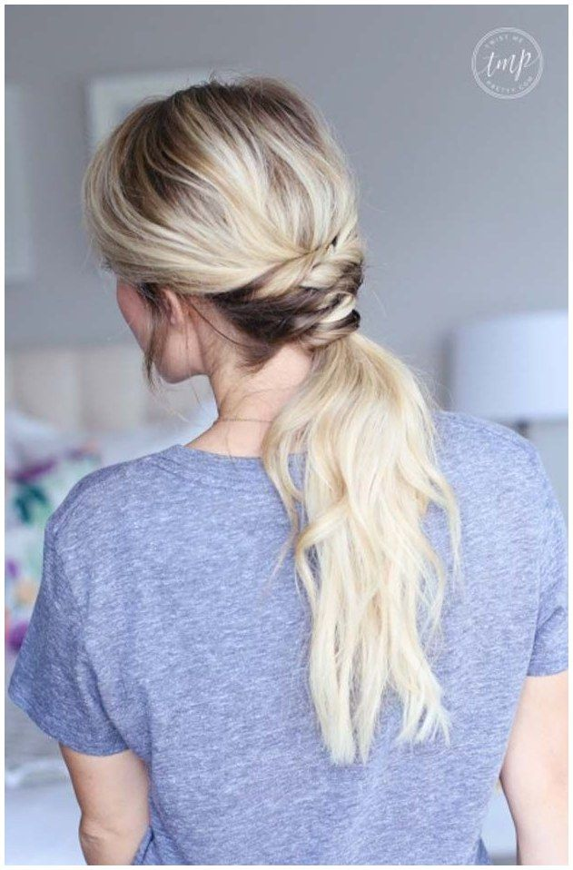 Cool and Easy DIY Hairstyles - Twisted Ponytail - Quick and Easy Ideas for Back to School Styles ...
