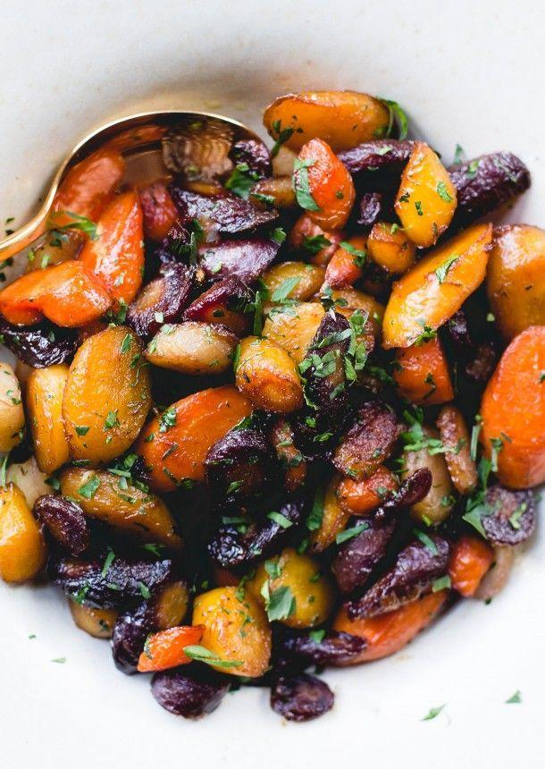 Honey-Garlic Caramelized Carrots {healthy recipe}