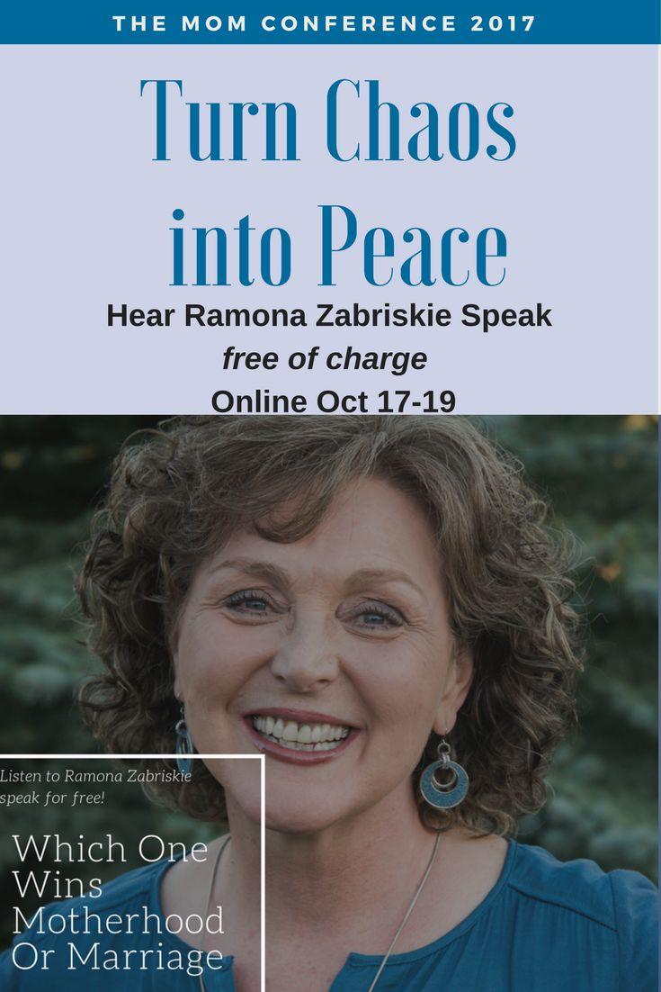 """""""Which One Wins – Motherhood or Marriage?"""" - Join me at the Mom Conference and you can hear Ramona Zabriskie's Speech FREE of charge