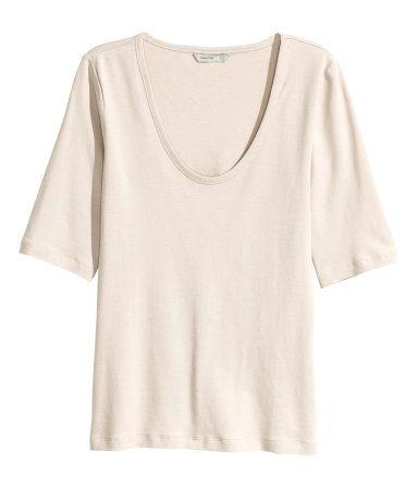 Jerseyshirt | Hellbeige | Damen | H&M AT