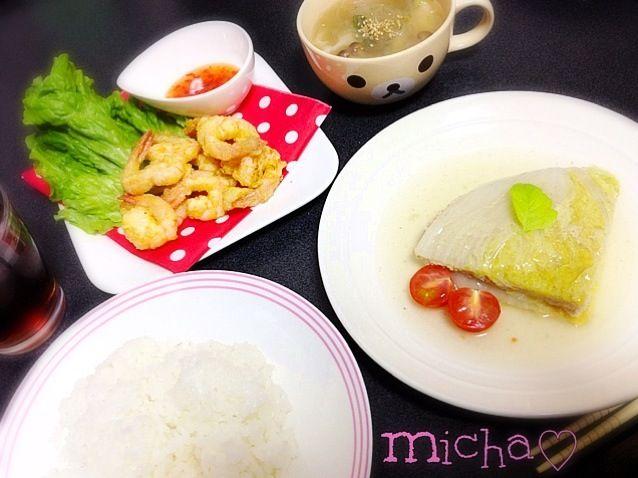 ミルフィーユ煮にしたら 白菜いっぱい食べれます♡ 美味しかった〜(∗❛ั௰❛ั∗)♡ - 6件のもぐもぐ - エビのフリッター♡白菜のミルフィーユ煮♡春雨餃子スープ♡ by micha♡