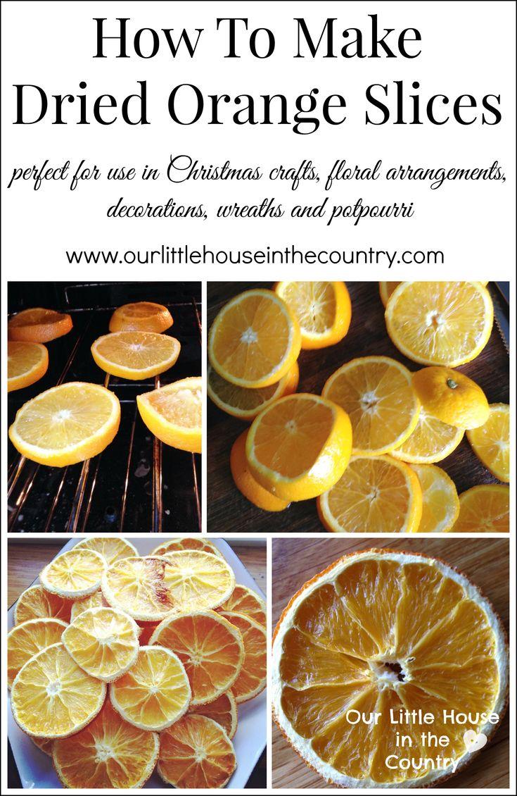 Comment faire d'Orange tranches séchées - Parfait pour une utilisation dans l'artisanat de Noël, couronnes, décorations et arrangements floraux - notre petite maison dans le Pays 1