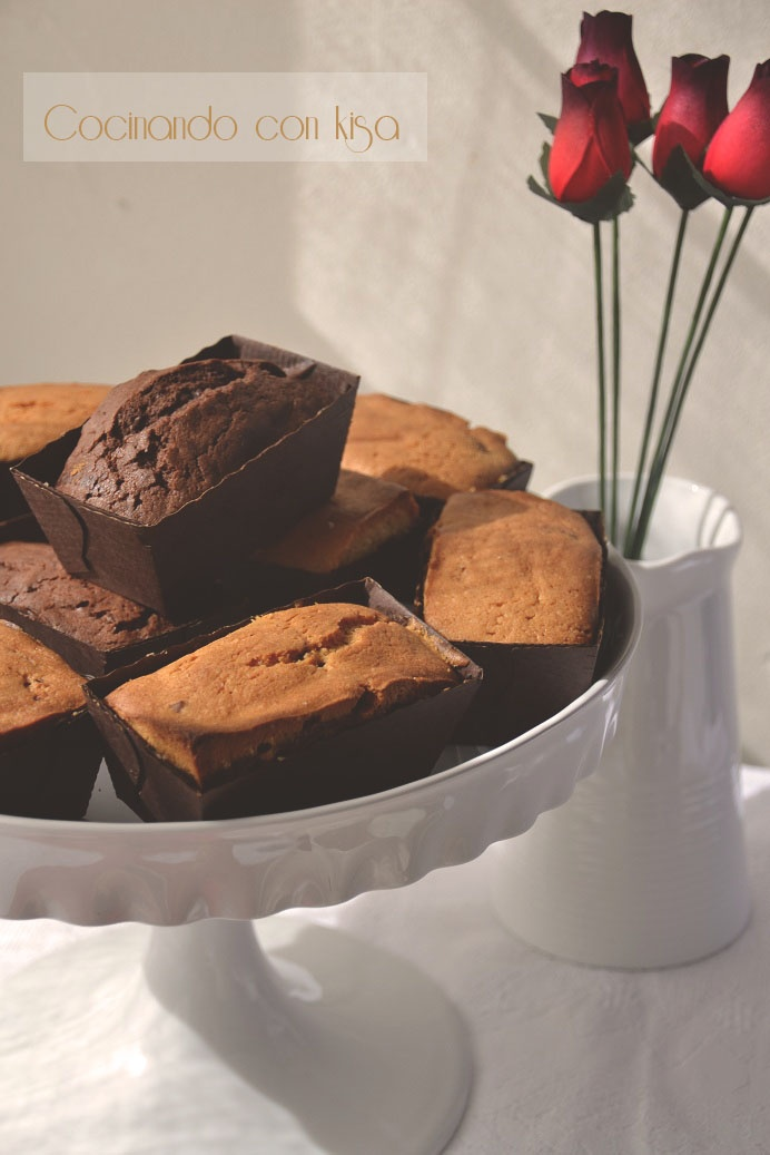 Mini Plumcake Marmolado   http://cocinandoconkisa.blogspot.com/2012/02/mini-plum-cake-marmolado-kitchenaid.html
