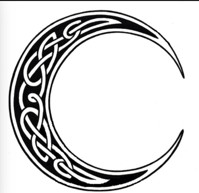 bf7f0622a2738 Celtic moon | tattoos | Celtic tattoos, Symbolic tattoos, Moon tattoo  designs