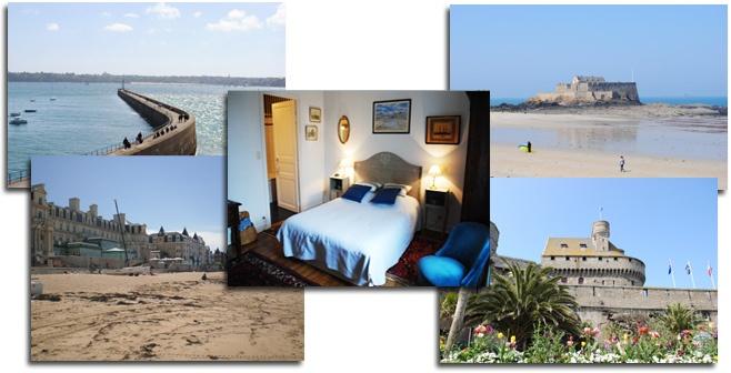 Chambre d'hotes Saint Malo Le Gai Courtil St Malo proche des plages et des thermes marins.