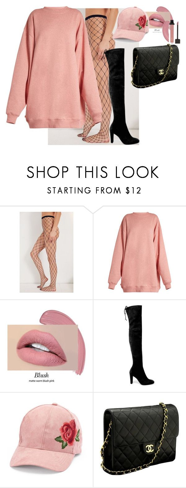 """""""Untitled #549"""" by dreamer3108 on Polyvore featuring Out From Under, Acne Studios, Stuart Weitzman, David & Young and Chanel"""