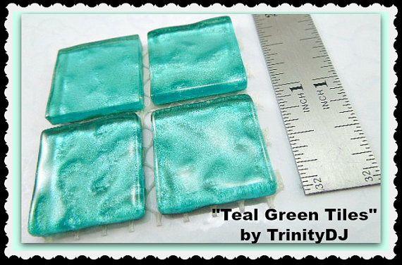 Green Tiles - Cabochons - Watermark Tiles