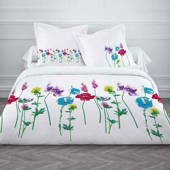 housse de couette et deux taies d 39 oreiller garden. Black Bedroom Furniture Sets. Home Design Ideas