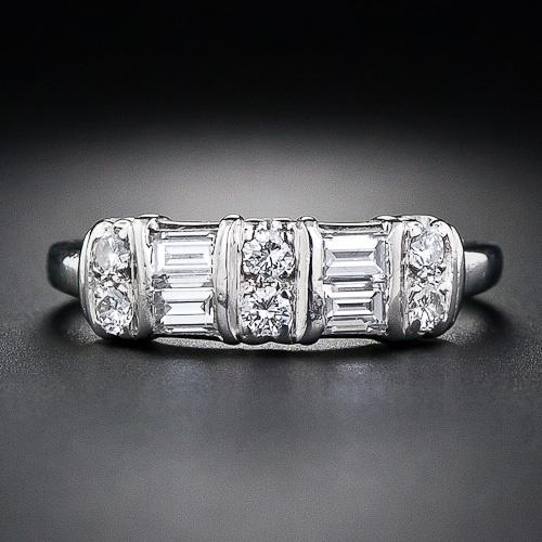 Vintage Platinum and Diamond Band Ring - 110-1-4005 - Lang Antiques